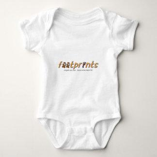 Body Para Bebê Roupa do logotipo das pegadas