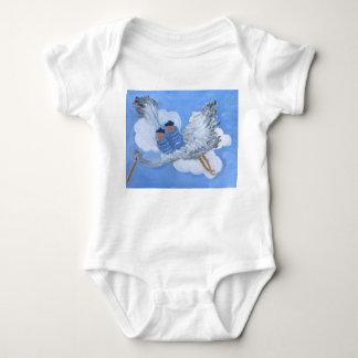 Body Para Bebê Roupa dos bebés e da cegonha do vôo