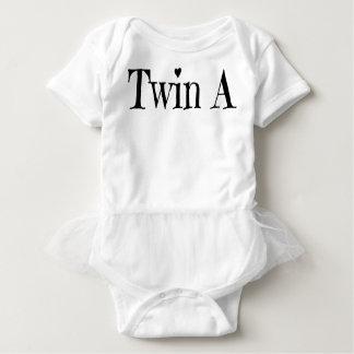 Body Para Bebê Roupa gêmea do bebê - junte um branco de uma peça