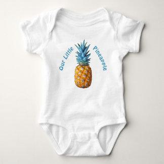 Body Para Bebê Roupa havaiana customizável do bebê do abacaxi