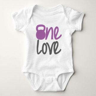 """Body Para Bebê Roxo """"um amor """""""