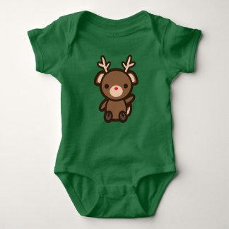 Body Para Bebê Rudolph o bebê do feriado do Natal de Kawaii da