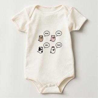 Body Para Bebê Ruídos animais