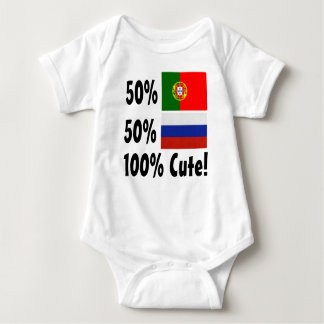 Body Para Bebê Russo 100% do português 50% de 50% bonito