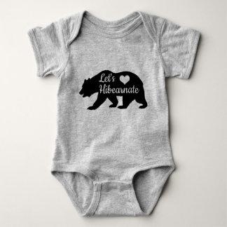 Body Para Bebê Rústico deixe-nos silhueta do urso preto de