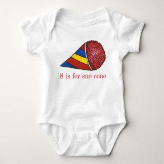 Body Para Bebê S é para o alfabeto vermelho de Snocone do gelo da