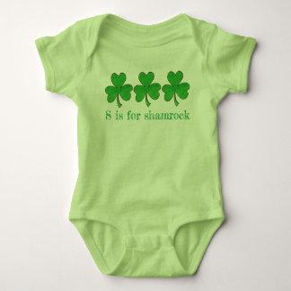 Body Para Bebê S é para o trevo St Patrick afortunado do verde do