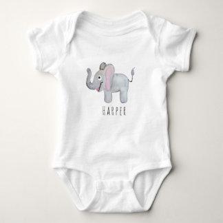 Body Para Bebê Safari unisex bonito do elefante da aguarela com