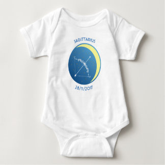 Body Para Bebê Sagitário da veste do bebê do sinal da estrela