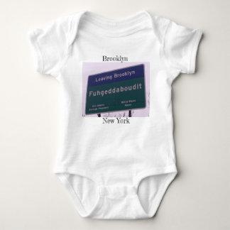 Body Para Bebê Saindo de Brooklyn New York Fuhgeddaboudit