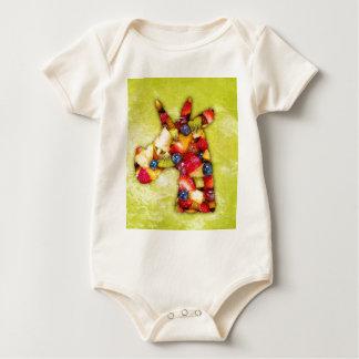 Body Para Bebê Salada de fruta do unicórnio