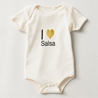 Body Para Bebê Salsa Playfully elegante do coração de I