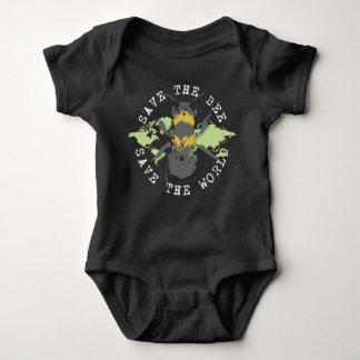 Body Para Bebê Salvar a abelha! Salvar o mundo! Coleção do