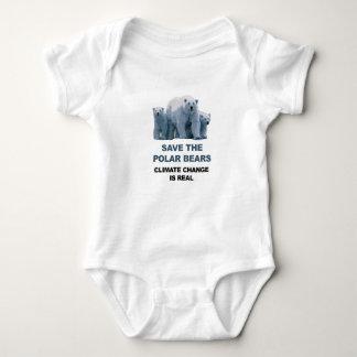 Body Para Bebê Salvar os ursos polares