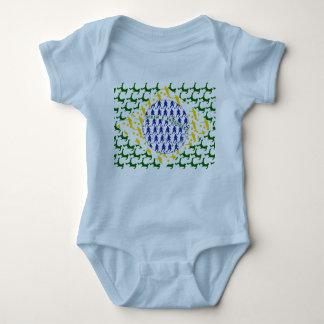 Body Para Bebê Samba do estilo de Brasil da bandeira de Brasil de
