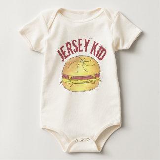 Body Para Bebê Sanduíche do ovo do pequeno almoço do rolo da