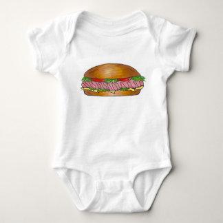 Body Para Bebê Sanduíche submarino do queijo secundário do