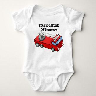 Body Para Bebê Sapador-bombeiro do T do amanhã