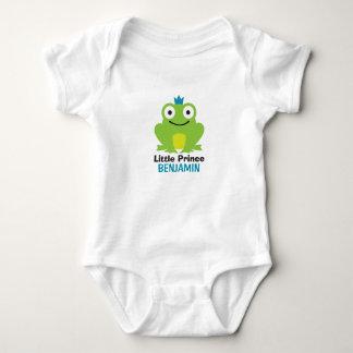 Body Para Bebê Sapo bonito com coroa e nome personalizado do bebê