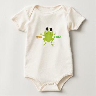 """Body Para Bebê Sapo bonito do """"pense verde"""""""
