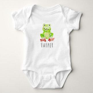 Body Para Bebê Sapo unisex da selva da aguarela do bebê bonito