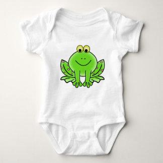 Body Para Bebê Sapo verde de floresta tropical