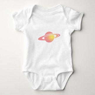 Body Para Bebê Saturn cor-de-rosa