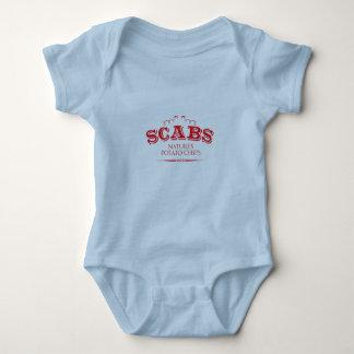 Body Para Bebê Scabs: Microplaquetas de batata da natureza
