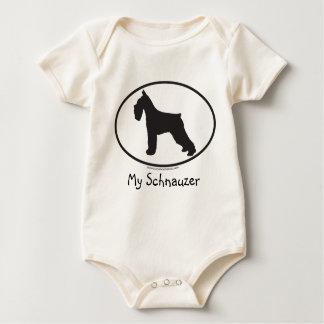 Body Para Bebê Schnauzer/cão