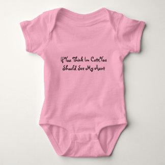 Body Para Bebê Se você pensa Im bonito, você deve ver minha tia