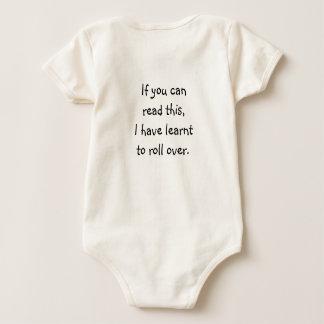 Body Para Bebê Se você pode ler este, eu aprendi rolar sobre