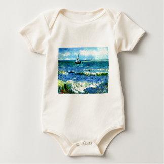 Body Para Bebê Seascape em Saintes-Maries, Vincent van Gogh
