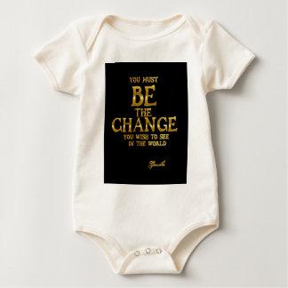 Body Para Bebê Seja a mudança - citações inspiradas da ação de