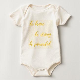 Body Para Bebê seja bravo seja forte seja poderoso