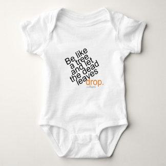 Body Para Bebê Seja como uma árvore e deixe a gota inoperante das