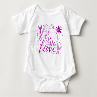 Body Para Bebê seja rosa bravo