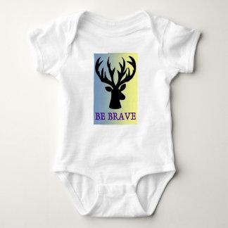 Body Para Bebê Seja sombra brava da cabeça dos cervos