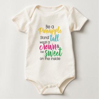 Body Para Bebê Seja um desgaste do abacaxi um a coroa & seja