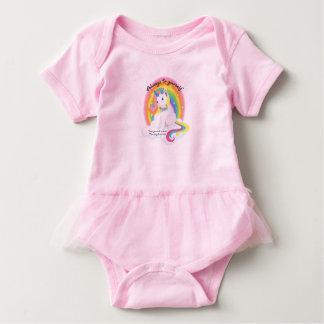 Body Para Bebê Seja você mesmo, seja um tutu do bebê do unicórnio