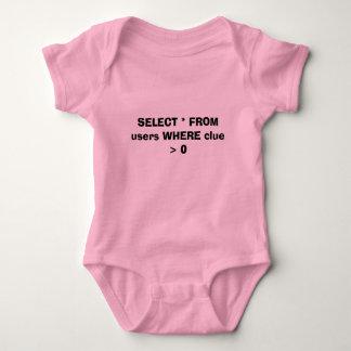 Body Para Bebê SELECIONE * dos usuários ONDE indício > 0