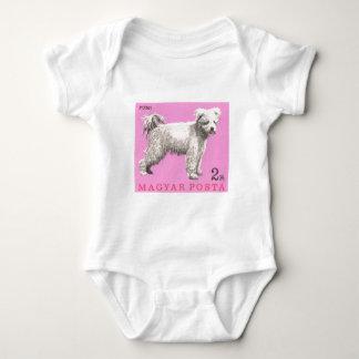 Body Para Bebê Selo postal 1967 do cão de Hungria Pumi