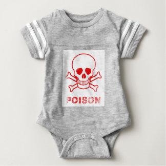 Body Para Bebê Selo vermelho da tinta do veneno