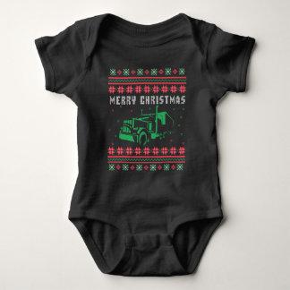 Body Para Bebê Semi camisola feia do Natal do caminhão