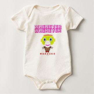 Body Para Bebê Sempre que Macaco-Morocko Onde quer que-Bonito