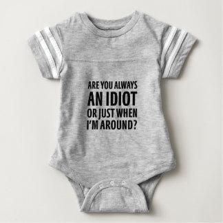 Body Para Bebê Sempre um idiota