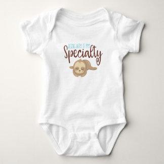 Body Para Bebê Sendo Bodysuit preguiçoso do jérsei