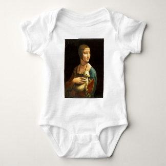 Body Para Bebê Senhora da pintura de Da Vinci original com um