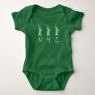 Body Para Bebê Senhora estátua da liberdade do verde da Nova