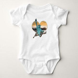 Body Para Bebê Senhora Liberdade da lembrança da skyline da Nova