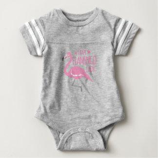 Body Para Bebê Senhora louca do flamingo